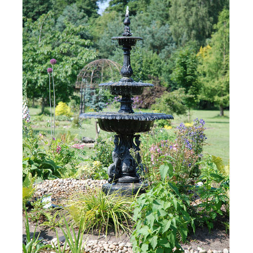 Three Tier Swan Garden Fountain